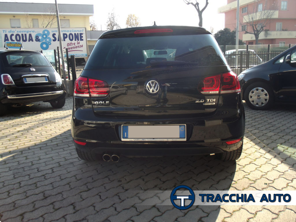 tracchia auto volkswagen golf vi 2 0 tdi 140cv 4motion highline full 2010. Black Bedroom Furniture Sets. Home Design Ideas